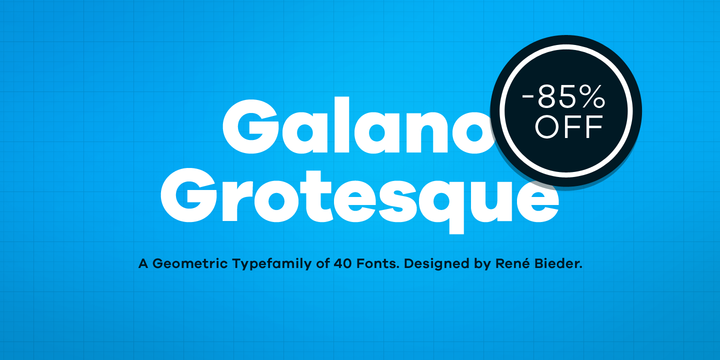 New font: Galano Grotesque