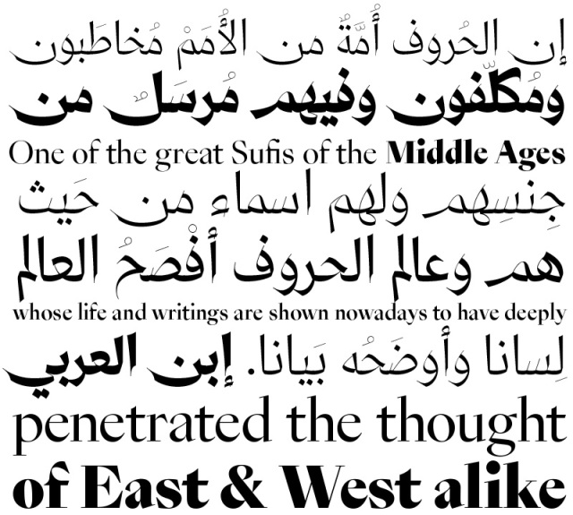 A Graceful Multilingual Typeface