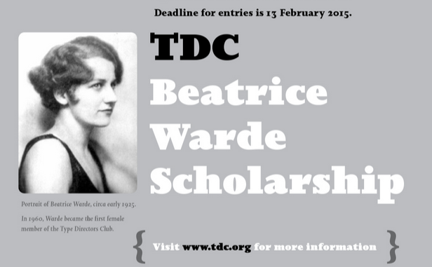 TDC Beatrice Warde Scholarship