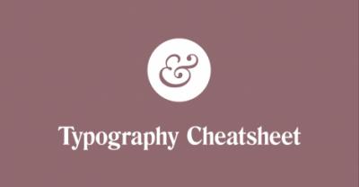 Typography Cheatsheet