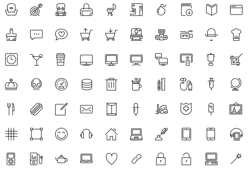 100 Free Vector Linear Icons