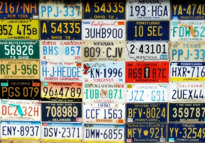 License plate alphabets analyzed by Yves Peters