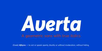 New font: Averta by Intelligent Design
