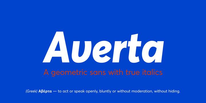 New font: Averta by Intelligent Design