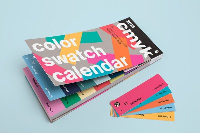 CMYK Color Swatch Calendar 2016
