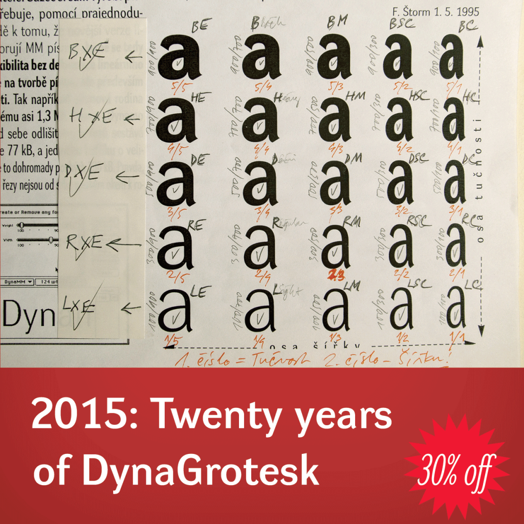 20 years of DynaGrotesk by Stromtype