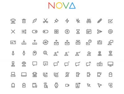 350 Free Icons in Google Material Style