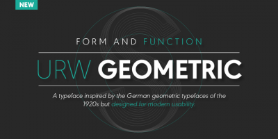 New font – URW Geometric by Jörn Oelsner