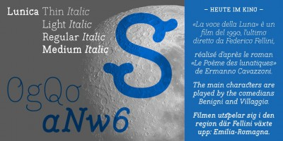 Italics were added to Lunica by Thomas Hirter