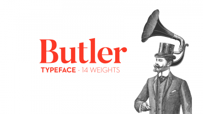 New free typeface family – Butler