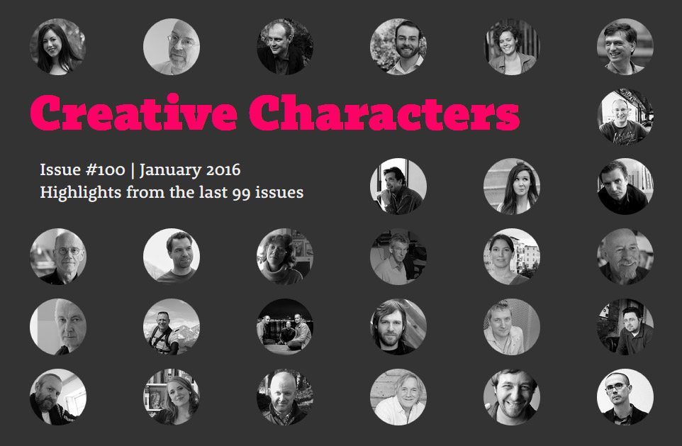 Creative Characters – Highlights from the last 99 issues
