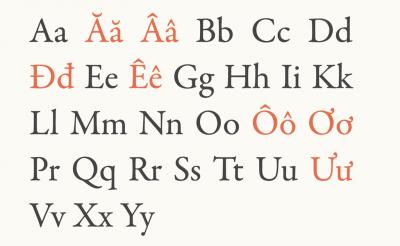 Vietnamese typography by Donny Trương