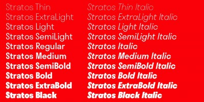 New fonts from Production Type: Stratos