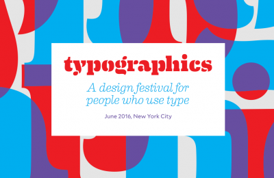 Typographics festival starts on 13 June 2016 in NYC
