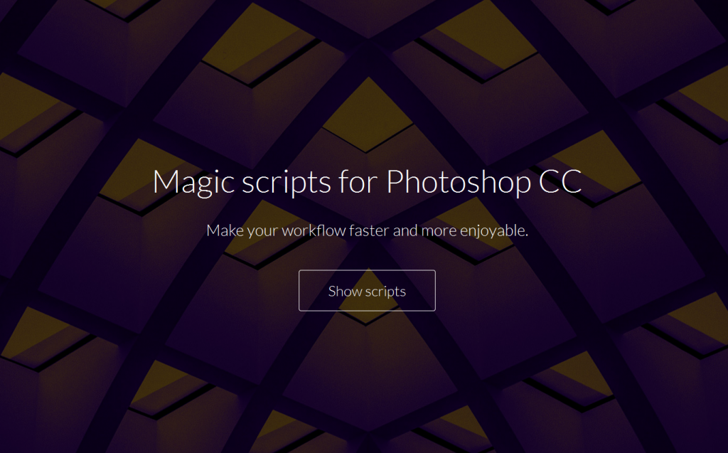 Magic scripts for Adobe Photoshop CC