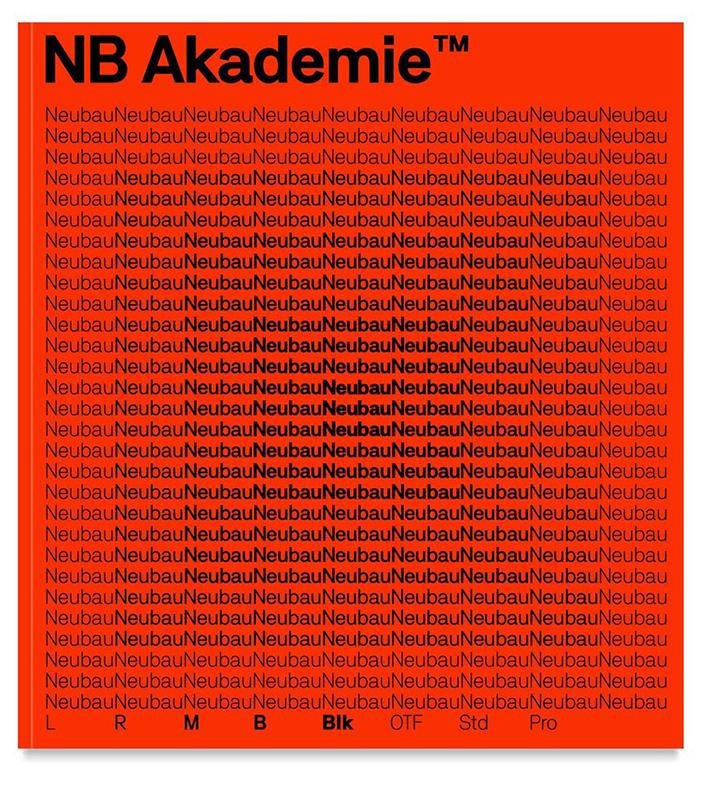 NB Akademie, a new font family by Neubau