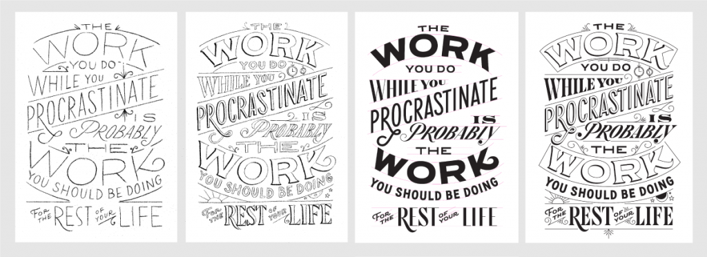 How to work with a lettering artist