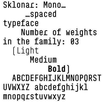 Sklonar, a new geometrical font by Briefcase Type Foundry