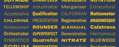 New font family Ringside = 172 styles by Hoefler & Co.
