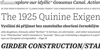 Exchange, new font family designed by Tobias Frere-Jones