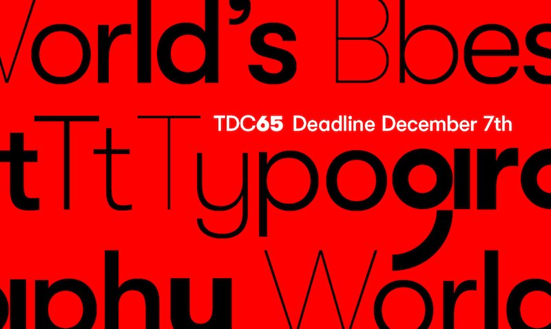 Type Directors Club competition deadline