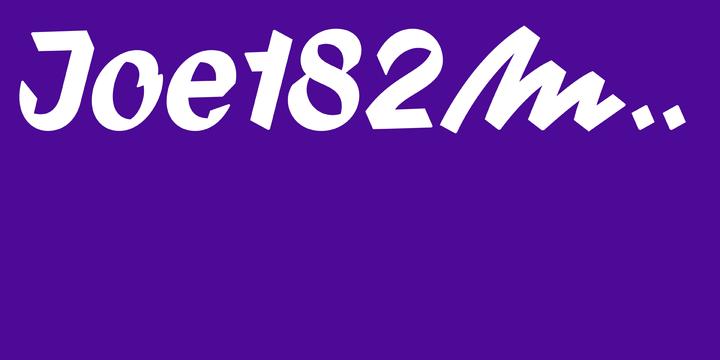 New font: Joe182