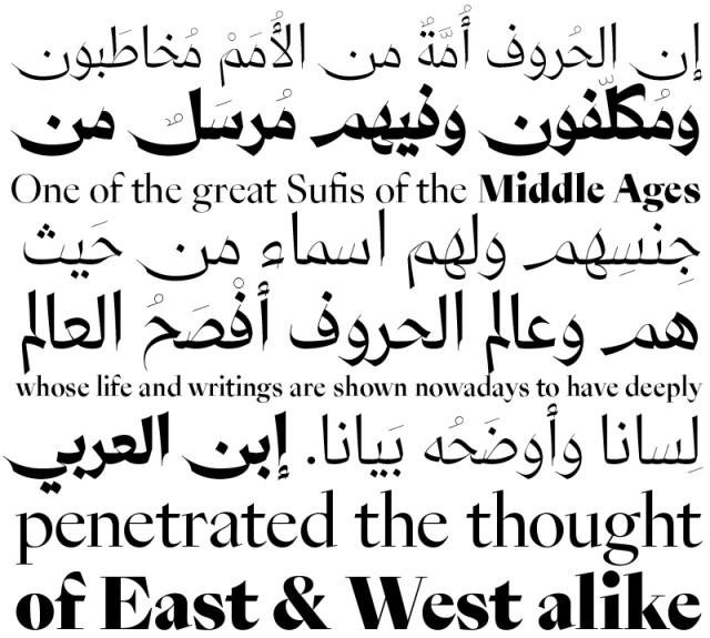 A Graceful Multilingual Typeface