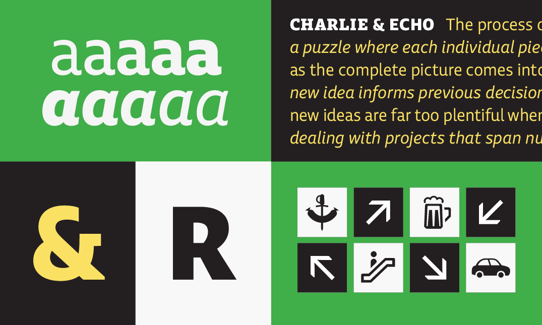 Echo, new font from Typotheque