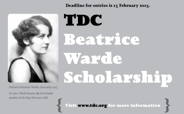 TDC Beatrice Warde Scholarship