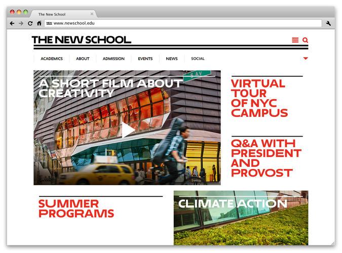 Pentagram's New School Rebrand