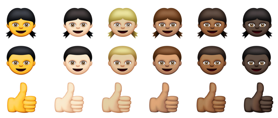 Ethnically diverse emojis