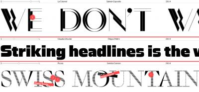 ECAL Typefaces, new Swiss type foundry