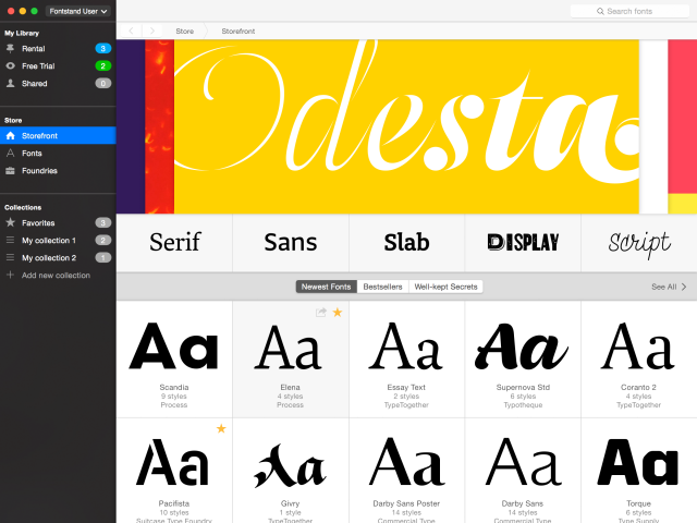 Fontstand.com – Now you can rent a typeface