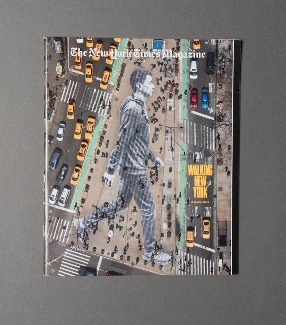 """How The New York Times Magazine's """"walking"""" cover was made"""