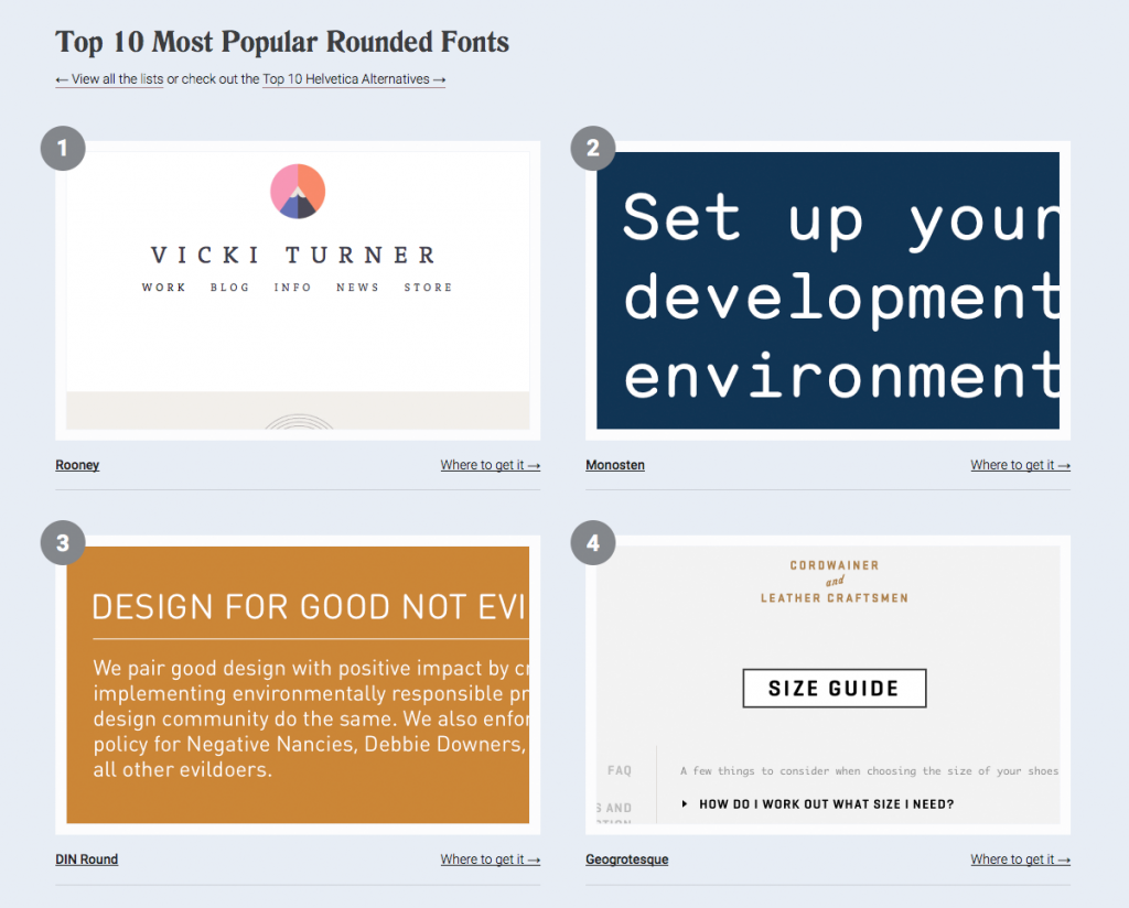 Top 10 Most Popular Rounded Fonts