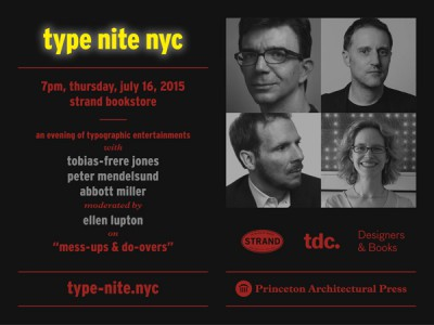 Type Nite, a typographic evening in NYC
