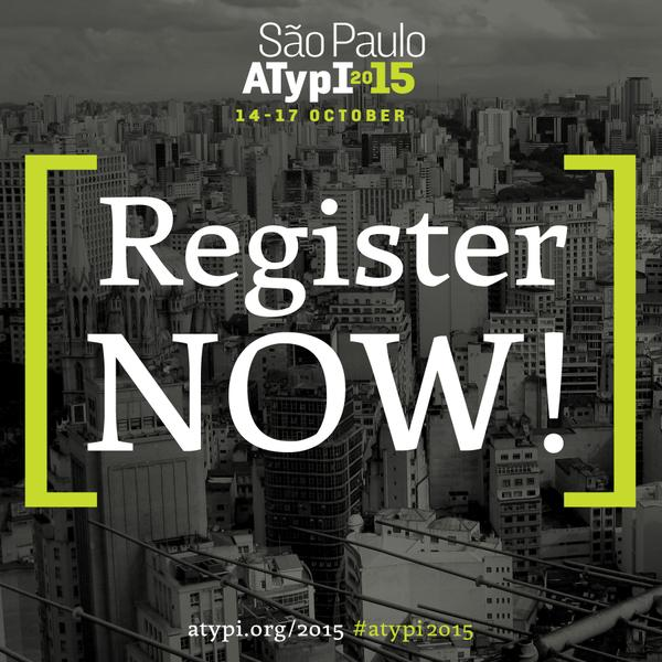 Registration for ATypI 2015 is now open!