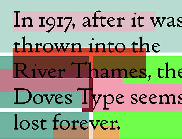 Resurrected type from the Thames