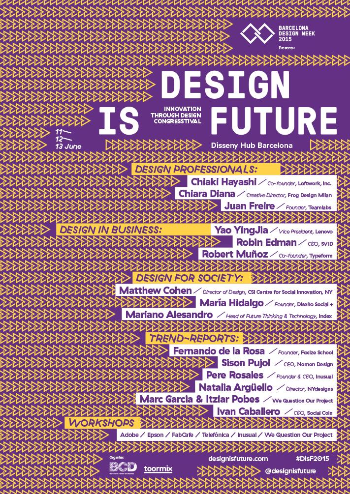Next week: Design is Future congresstival in Barcelona