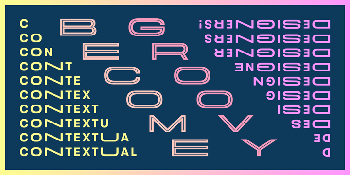 Velodroma, a new display sans serif in three widths