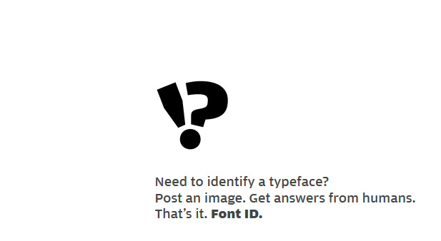 Need to identify a typeface? Try Font ID