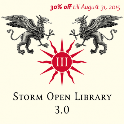 Storm Open Library – now 30% off
