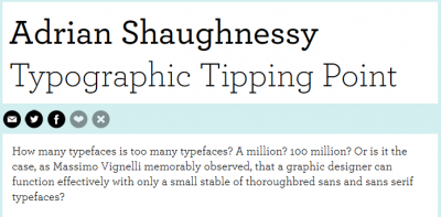 How many typefaces is too many typefaces?