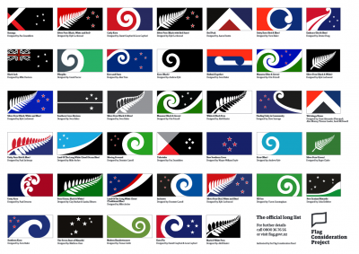 40 proposals for a New Zealand new flag
