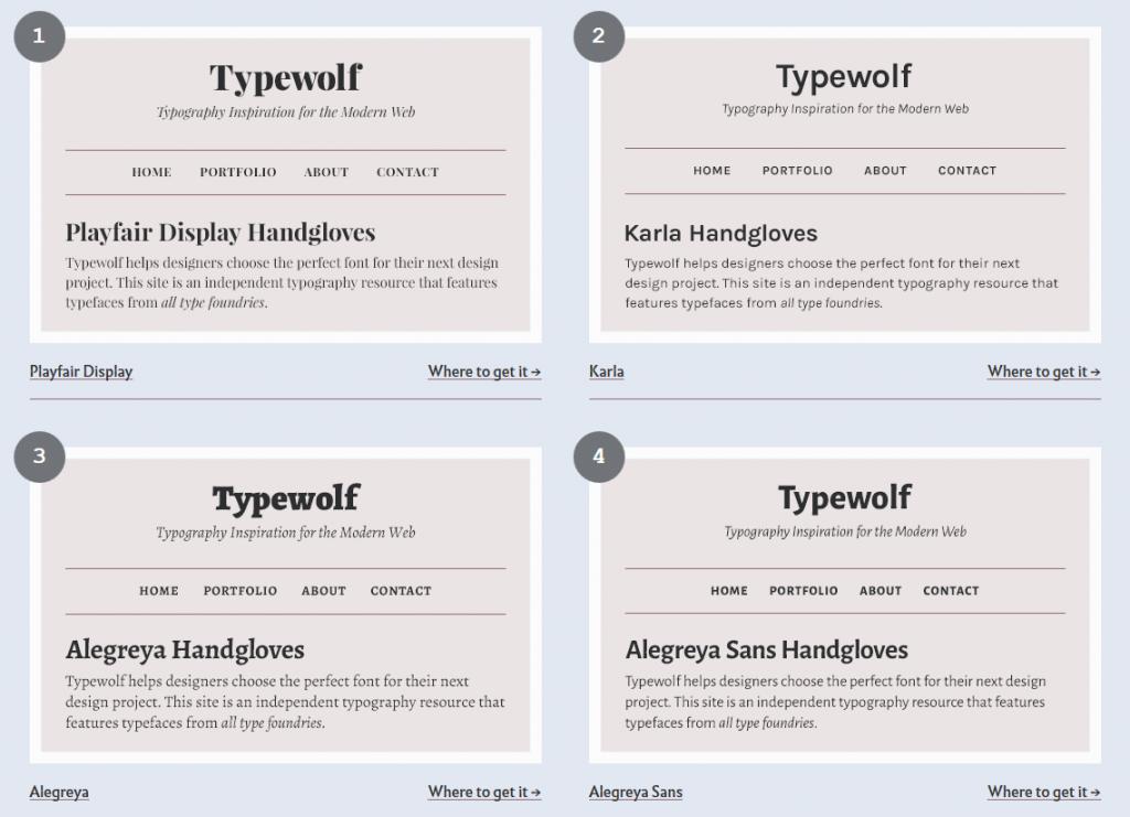 Typewolf – Top 30 Free Open-Source Web Fonts