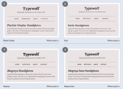Typewolf – Top 30 Free Open-Source Web Fonts
