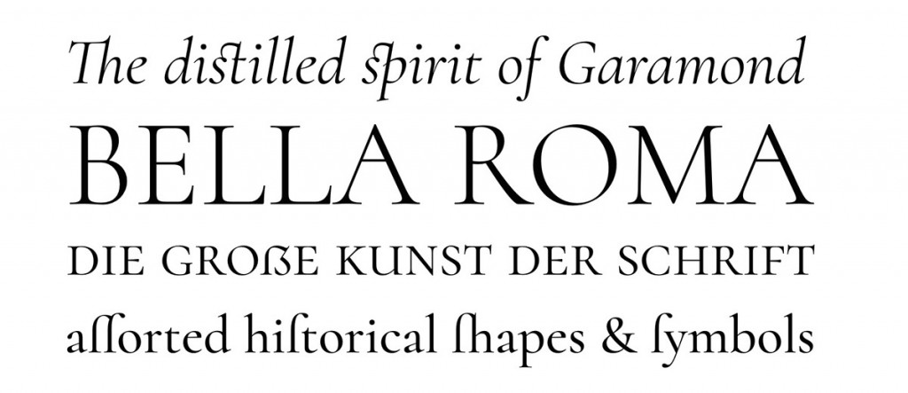Cormorant, an open source display font family