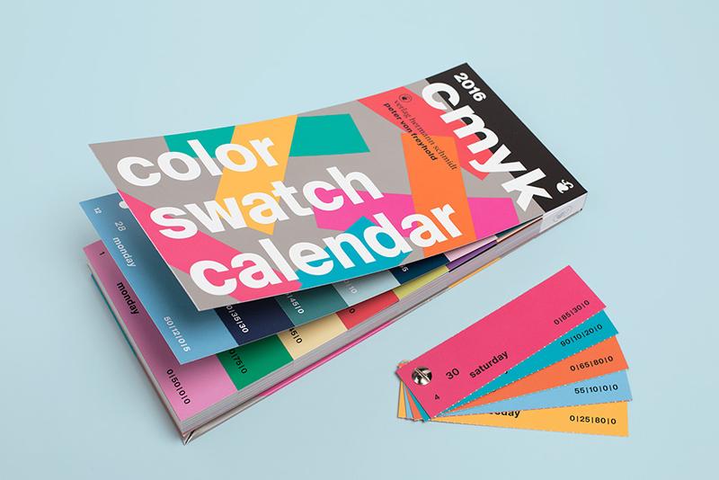 CMYK Color Swatch Calendar 2016