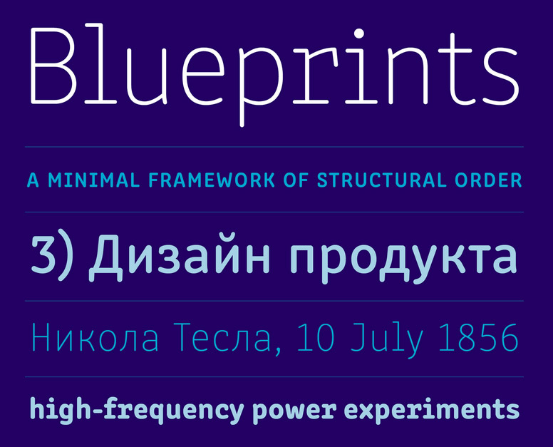 Clone, a new font by Rosetta Type Foundry