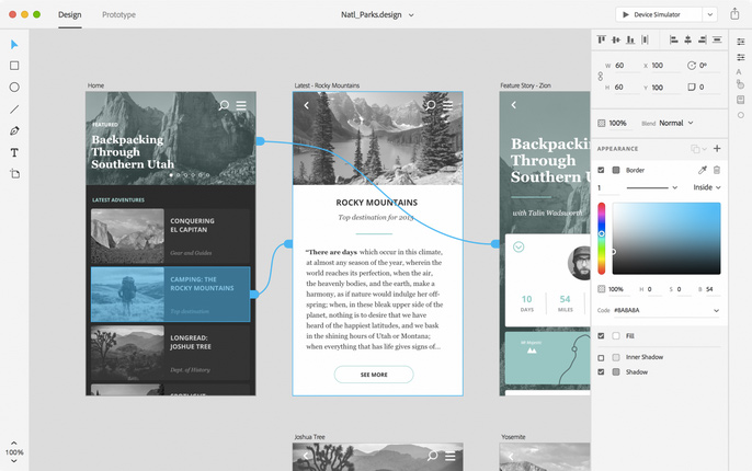 Comet: a new tool for designing and prototyping user experiences